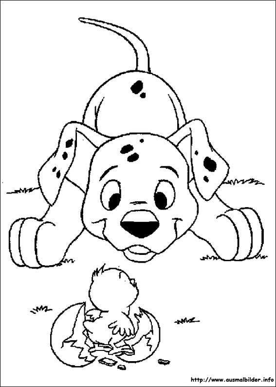 Ausmalbilder von 101 Dalmatiner zum Drucken