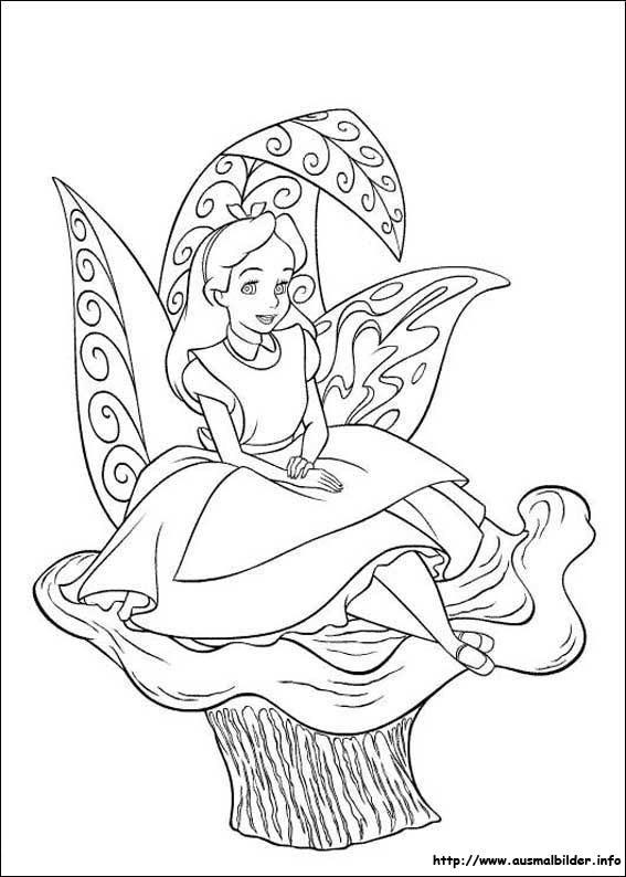 Alice im Wunderland malvorlagen