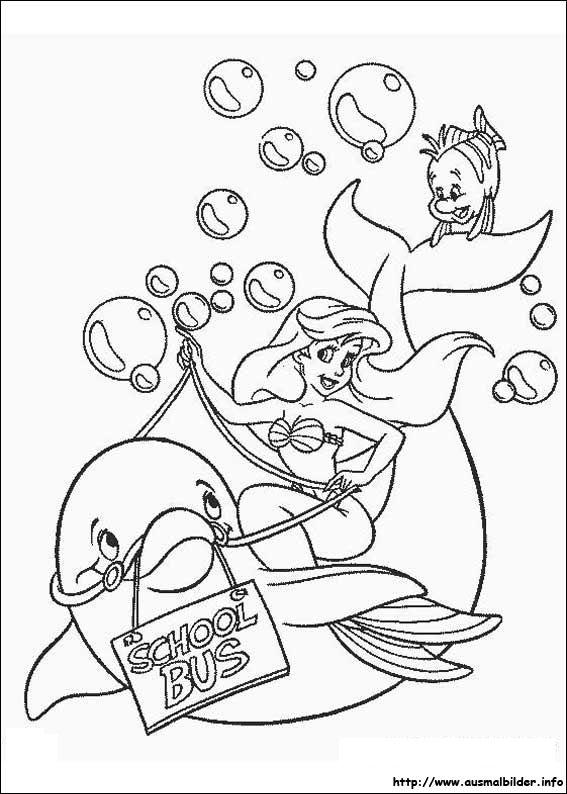 Arielle Die Meerjungfrau Malvorlagen