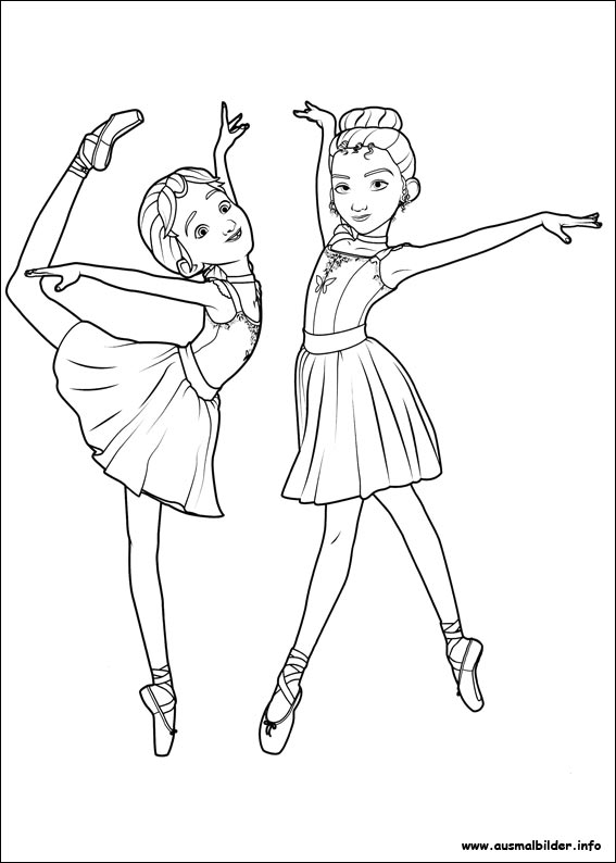 ausmalbilder ballerina
