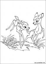Ausmalbilder von Bambi 2 zum Drucken