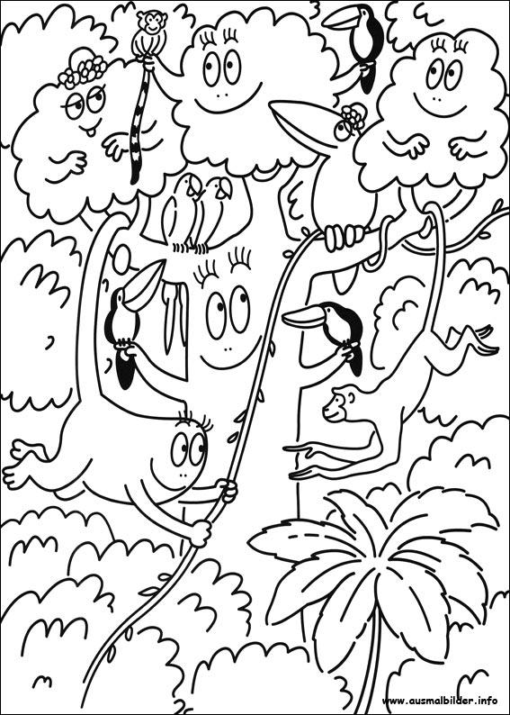 Barbapapa malvorlagen