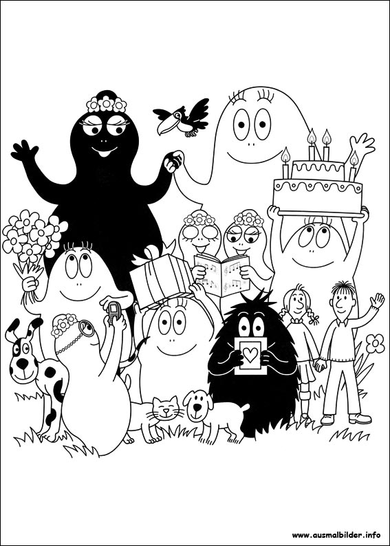 David Koch Ausmalbilder Barbapapa