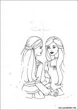 Ausmalbilder von Barbie und der geheimnisvolle Pegasus zum Drucken