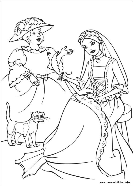 Barbie Als Die Prinzessin Und Das Dorfmädchen Malvorlagen