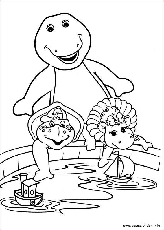Barney und seine freunde malvorlagen