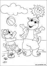 Ausmalbilder von Barney und seine freunde zum Drucken