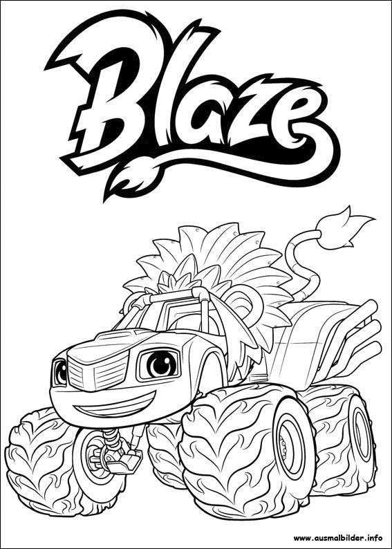 Blaze Und Die Monster Maschinen Malvorlagen