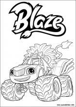 Ausmalbilder Von Blaze Und Die Monster Maschinen Zum Drucken