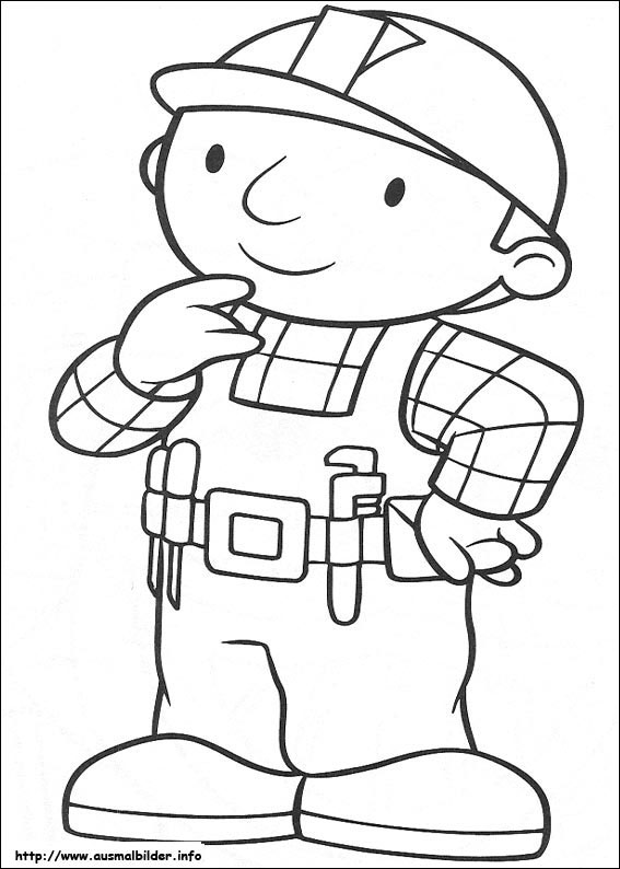 dibijos para colorear de bob el constructor: