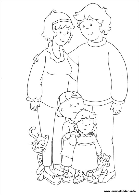 caillou coloring pages gilbert - photo#30