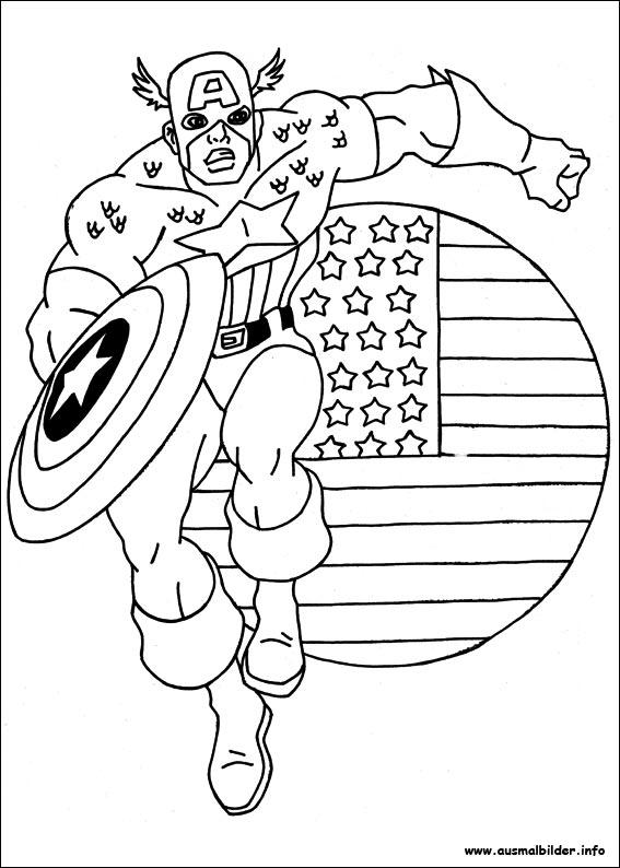 Captain America Ausmalbilder: Captain America Malvorlagen