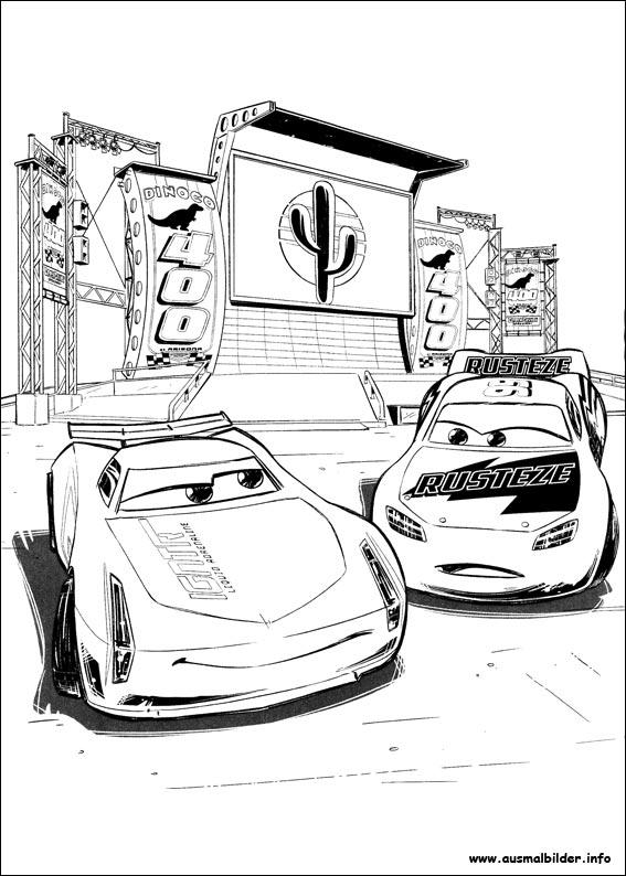 Cars 3 Malvorlagen
