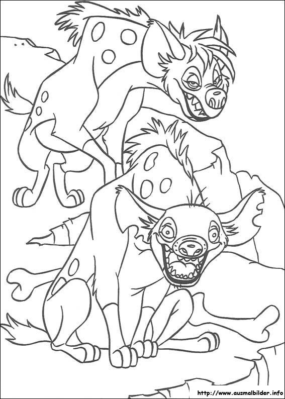 der könig der löwen malvorlagen