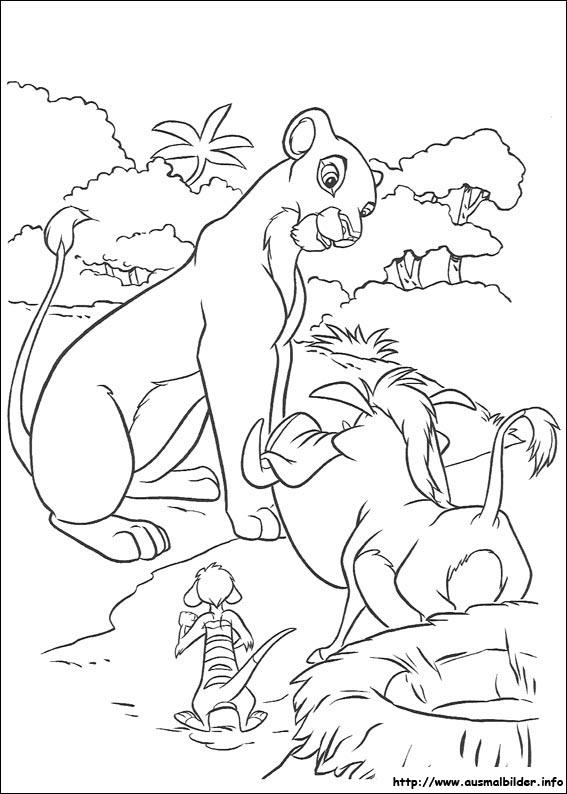 Ausmalbilder von Der König der Löwen zum Drucken