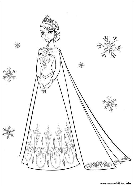 Elsa Zum Ausmalen Newtemp