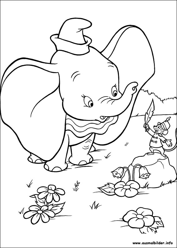 baby disney coloring pages dumbo - photo#16