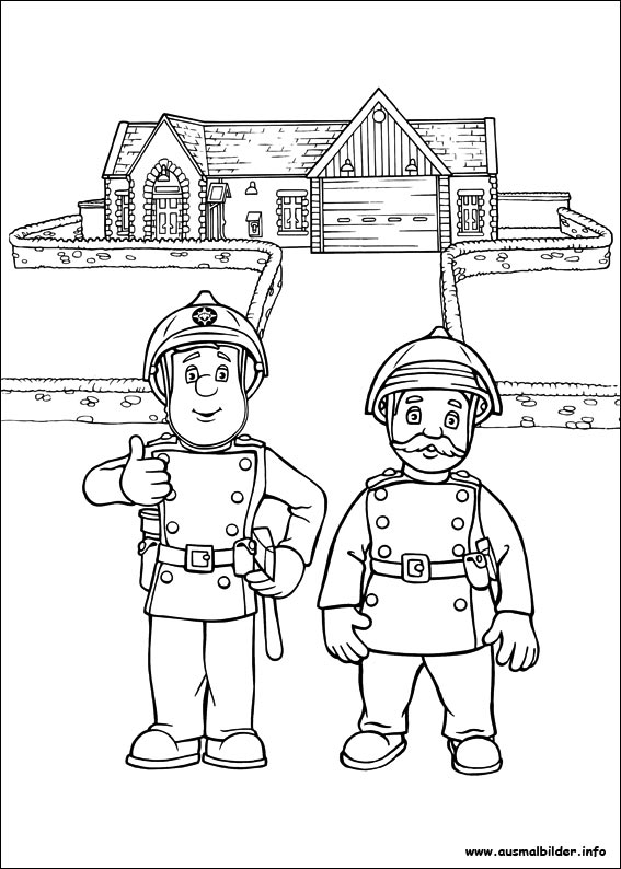 Feuerwehrmann Sam malvorlagen