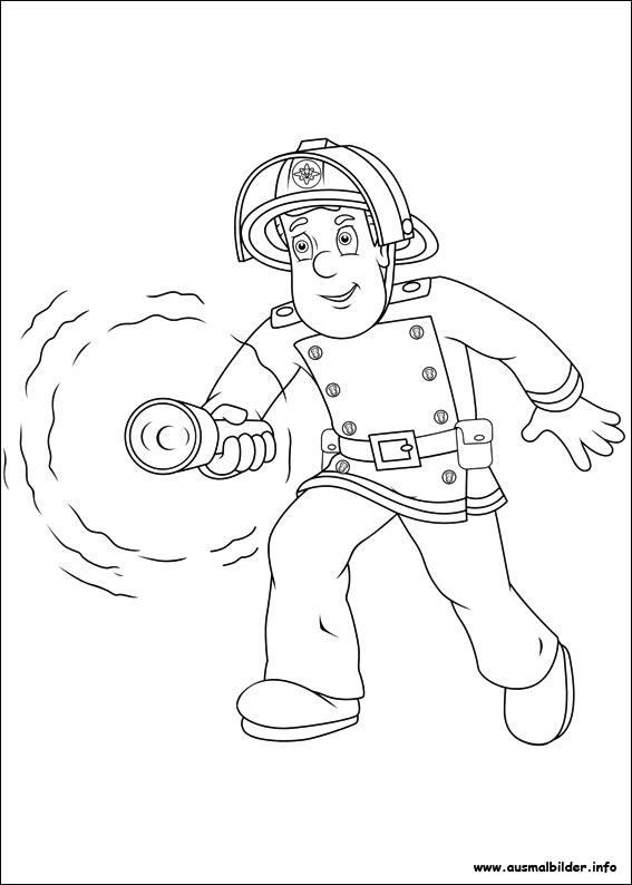 Ausmalbilder von Feuerwehrmann Sam zum Drucken