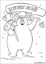 Ausmalbilder von Frosty, der Schneemann zum Drucken