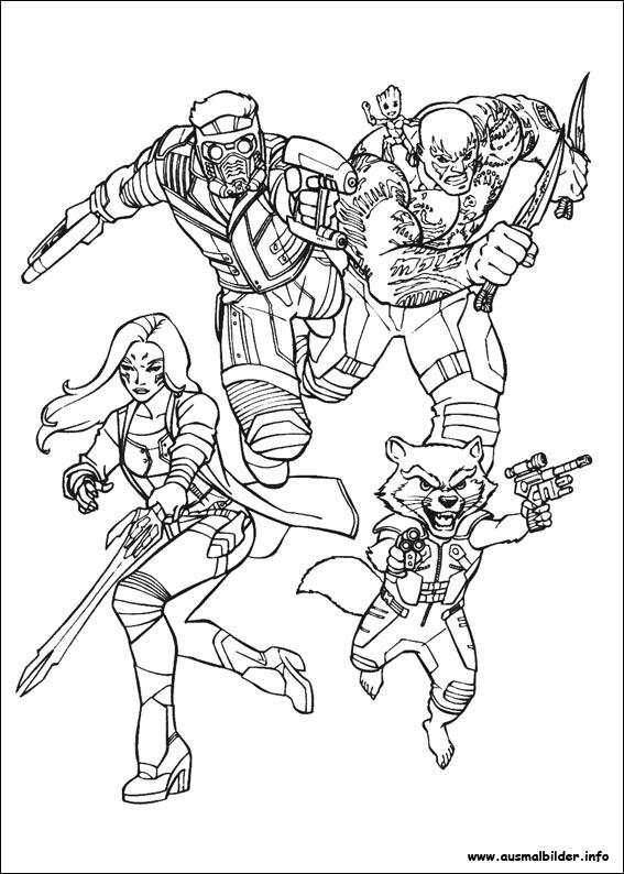 ausmalbilder guardians of the galaxy