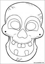 ausmalbilder von halloween masken zum drucken