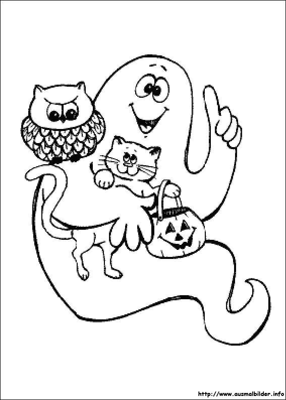 Halloween malvorlagen - Coloriage halloween fantome ...