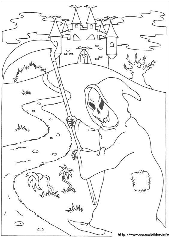 AUSMALBILDER HALLOWEEN - Malvorlagen zeichnen