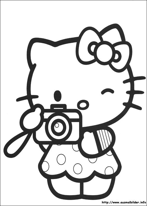 Images Of Hello Kitty Line Drawings Sabadaphnecottage