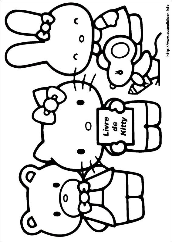 gratis malvorlagen: aumalbilder Hello kitty an ausmalbilder pferde