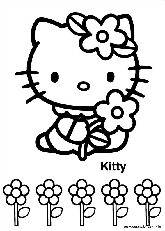 HELLO KITTY MALVORLAGE - FEEN AUSMALBILDER