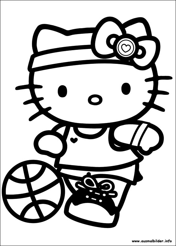 hello kitty malvorlage