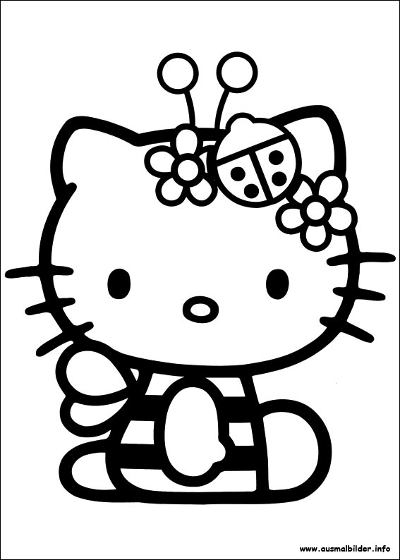 Wellcome to Image Archive: AUSMALBILDER HELLO KITTY