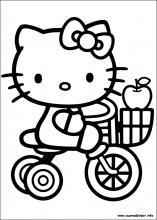 Ausmalbilder von Hello Kitty zum Drucken