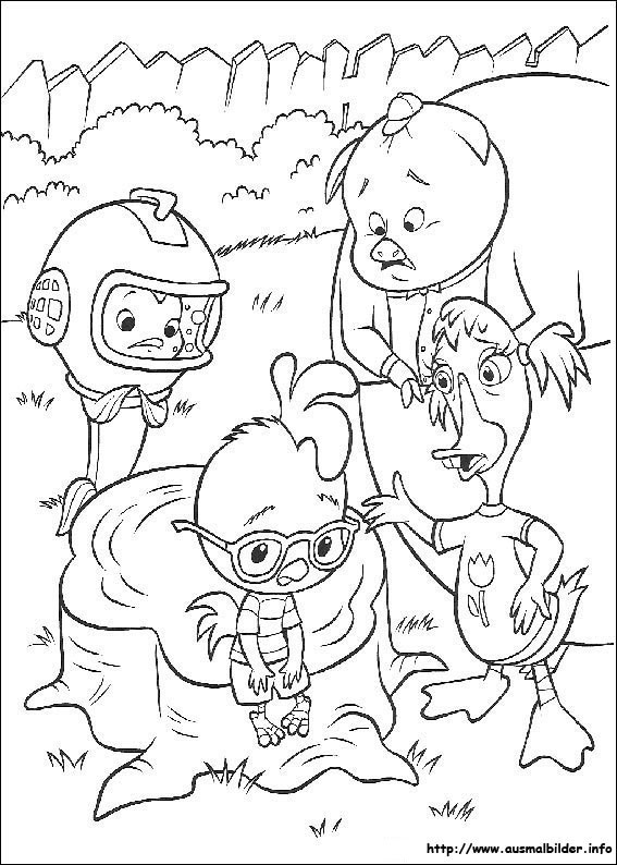 Printable Chicken Little Coloring Pages