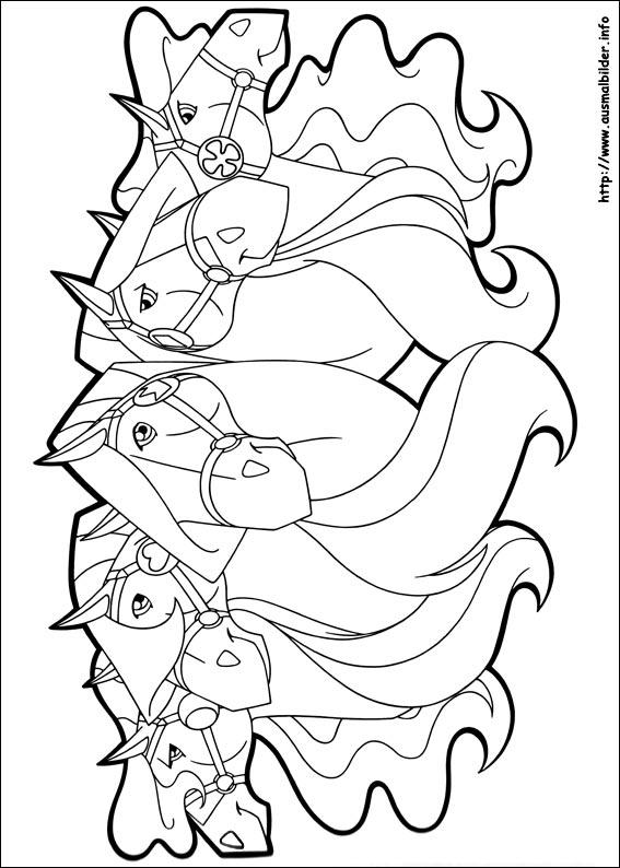 AUSMALBILDER HORSELAND - Malvorlagen zeichnen