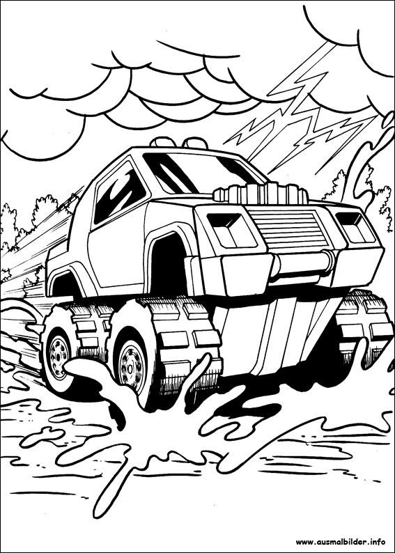 Ausmalbilder von Hot Wheels zum Drucken