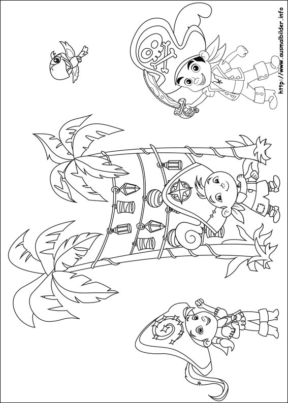 Disney Coloring Pages Jake And The Neverland Pirates