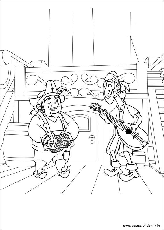 jake und die nimmerland piraten malvorlagen