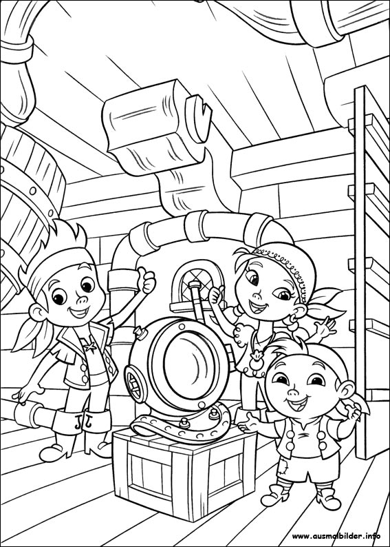 Jake und die nimmerland piraten malvorlagen for Jake the pirate coloring pages