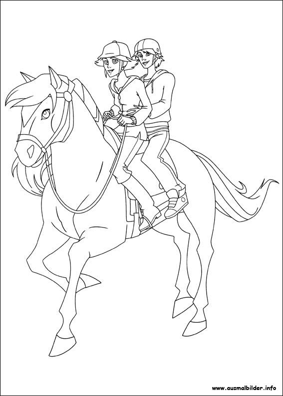 Kleurplaat Paarden Spirit Lenas Ranch Malvorlagen