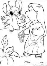 Ausmalbilder von Lilo und Stitch zum Drucken
