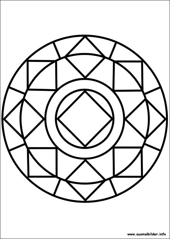 Ausmalbilder von Mandalas zum Drucken