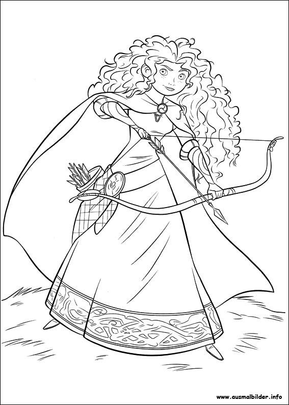 Merida legende der highlands malvorlagen - Dessin de rebelle ...