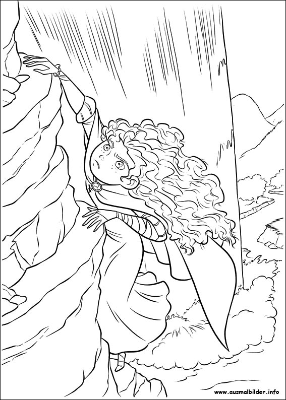 Brave Angus Coloring Page