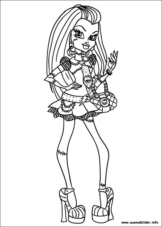 Ausmalbilder von Monster High zum Drucken