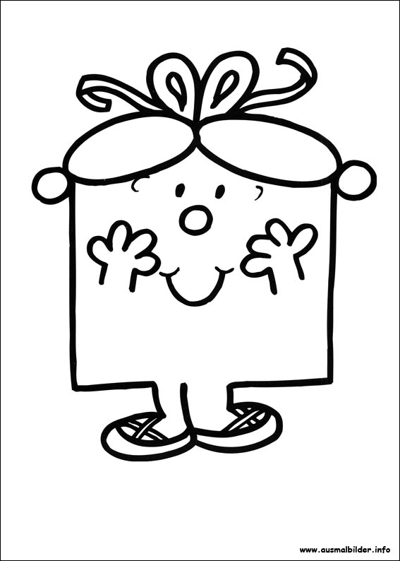 Mr. Men malvorlagen
