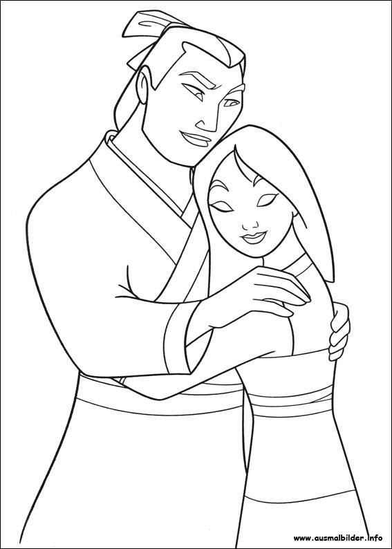 Ausmalbilder von Mulan zum Drucken