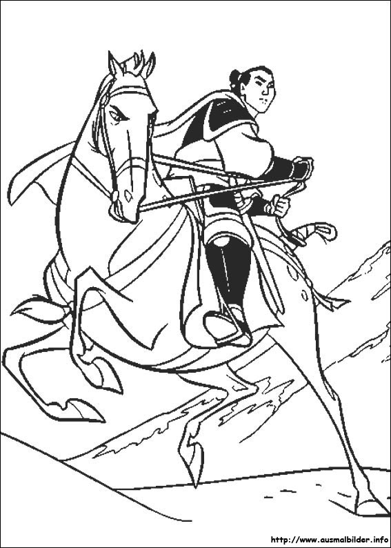 Mulan malvorlagen