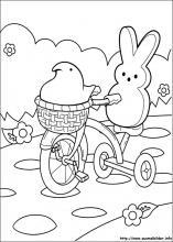Ausmalbilder von Marshmallow Peeps zum Drucken